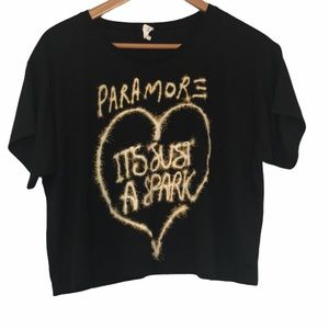 Paramore 'It's just a Spark' crop band tee S